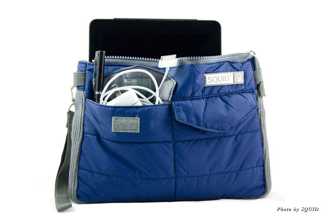 The iPad/Tablet Bag is a taffeta nylon bag with a padded zippered compartment designed to keep your tablet safe on the go.