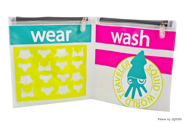 SQUID's Wash & Wear Travel Bag is designed to keep the clean and dry from the wet and dirty.