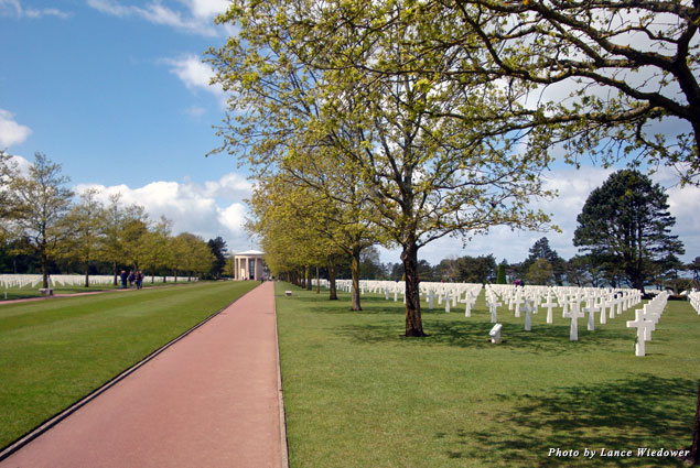 The American Cemetery at Omaha Beach is the final resting place of 9,387 Americans