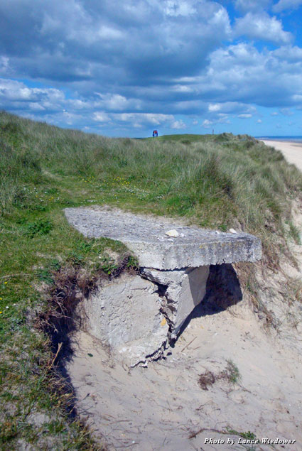 Remnants of war still dot the sand at Utah Beach