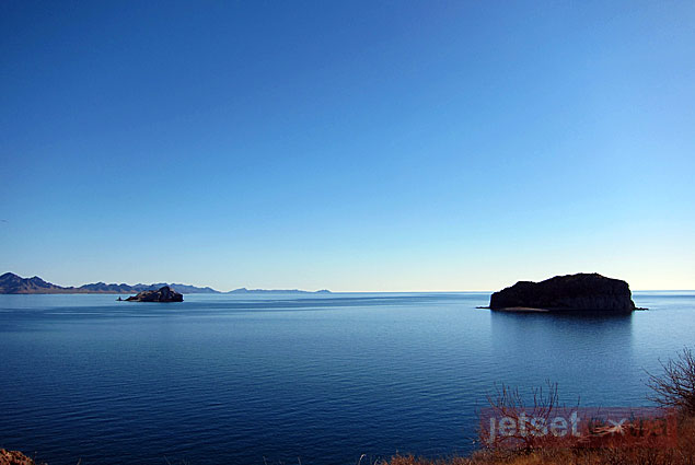 A view of the islands in the Bay of Loreto National Park during our hike