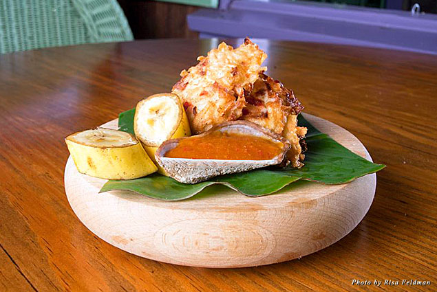 Featured dish at Bananas in Nevis