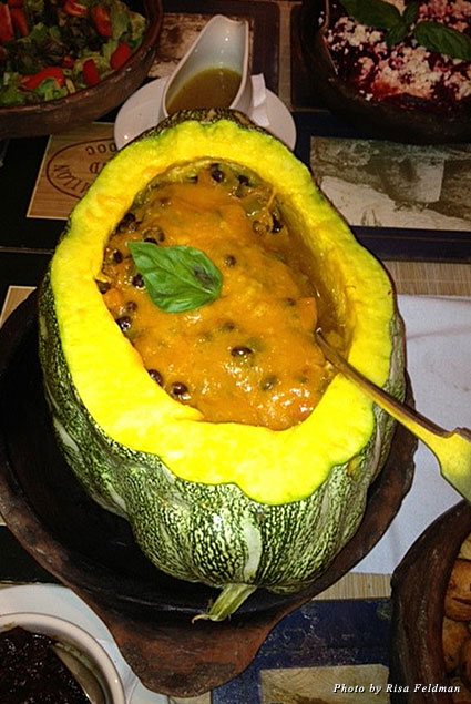 Nevis stuffed pumpkin at Hermitage