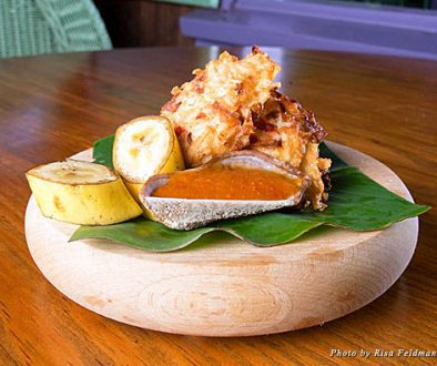 Featured dish at Banana's in Nevis
