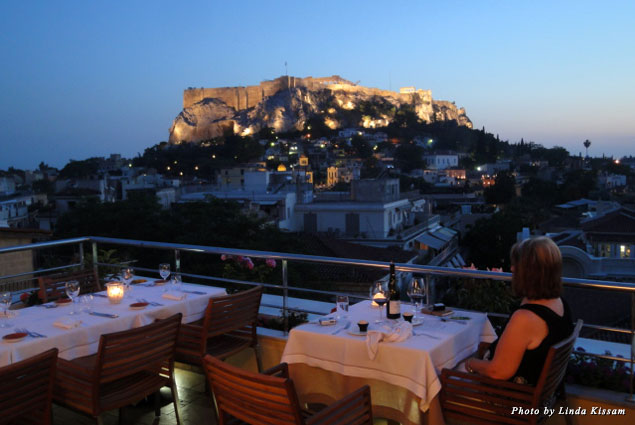 Electra Palace Roof Garden Restaurant provides exceptional views