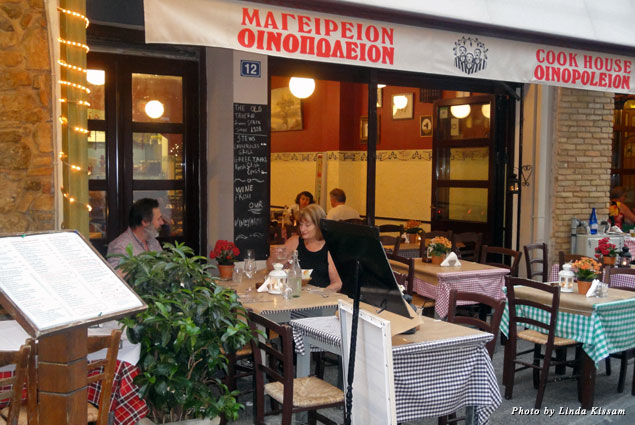 Oinopoleion Taverna in the wildly popular Plaka District