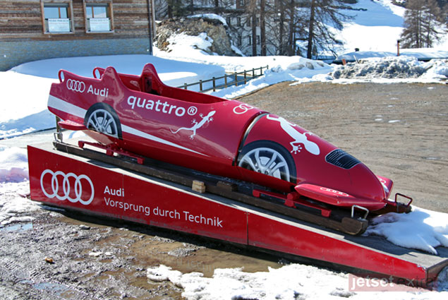Audi sled at the Olympic bob run