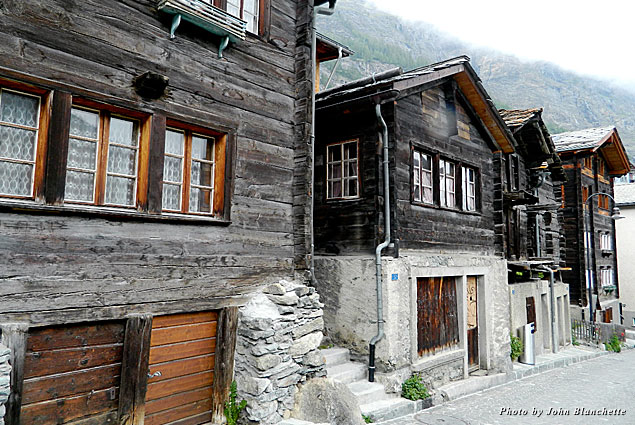 Zermatt is a centuries-old town with wooden structures dating back to the 1700s