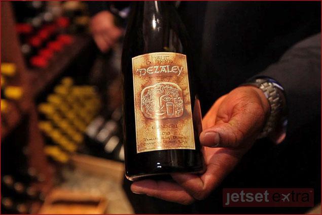 A bottle of Dezaley wine from the Lavaux region
