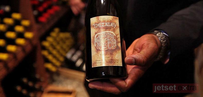A bottle of Dézaley wine from the Lavaux region