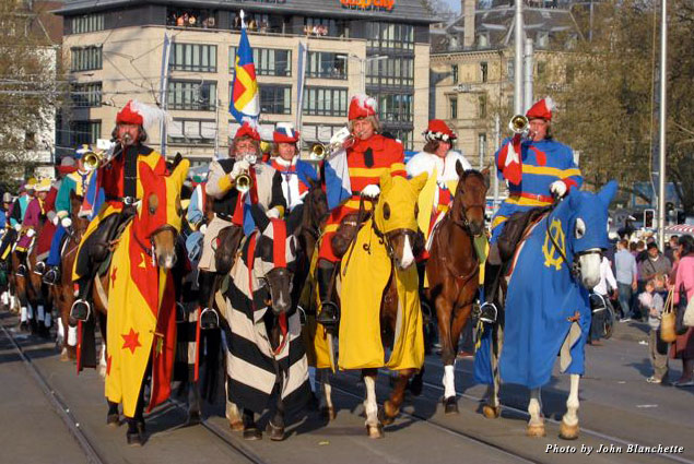 Guilds on parade in Zurich