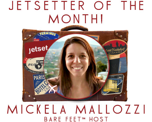 Jetsetter of the Month: Bare Feet™ Host Mickela Mallozzi