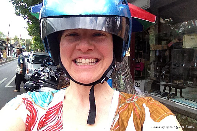Trying something new: renting a motor scooter during a trip to Bali