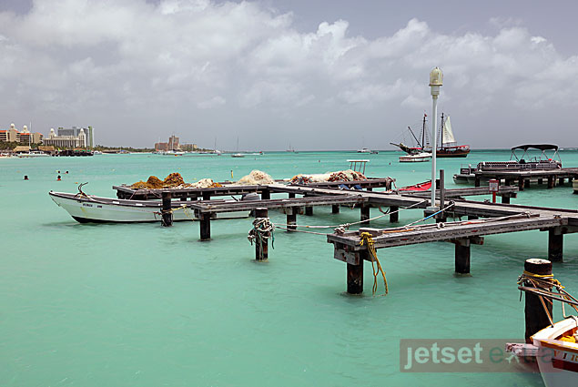 Docks for fishing boats in Aruba