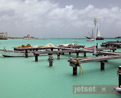 Docks for fishing boats in Aruba