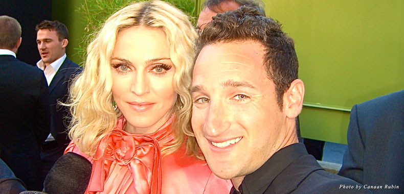 With Madonna in Cannes, France