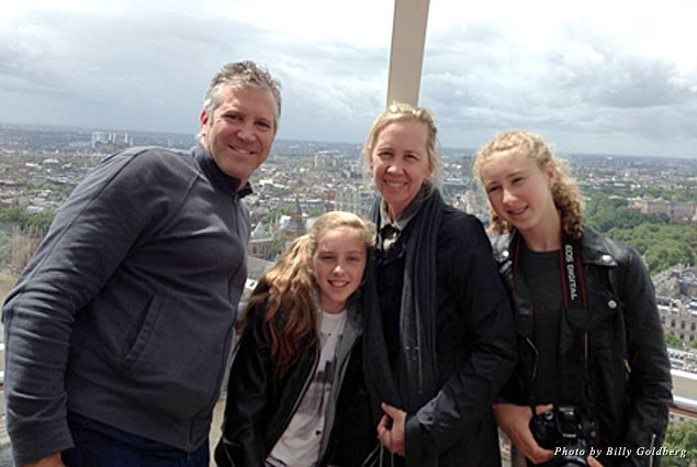 Billy and his family on vacation in Paris and London