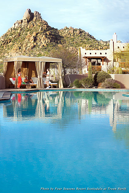 Pool cabana at Four Seasons Resort Scottsdale