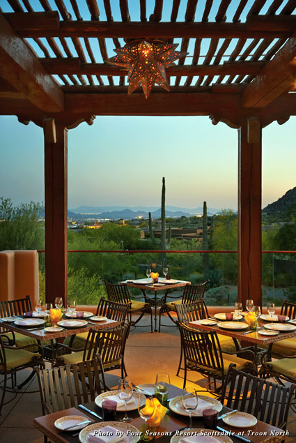 Outdoor dining at Talavera