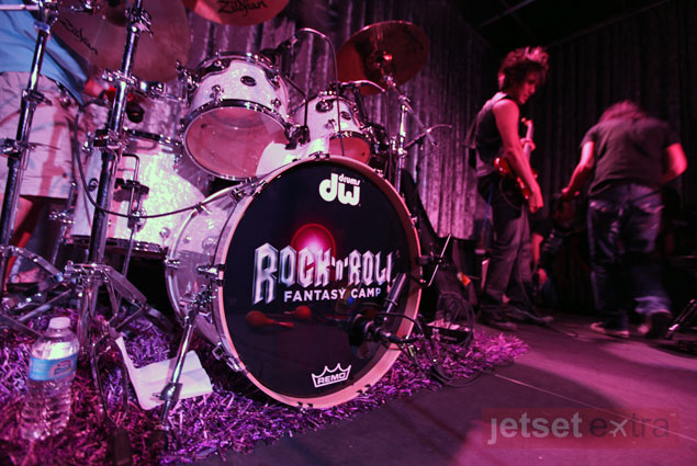 Rock and Roll Fantasy Camp drum set