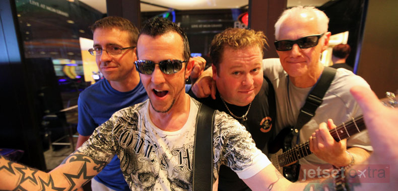 Camp counselor and guitarist Gary Hoey after recording with his band at the MGM Grand Hotel
