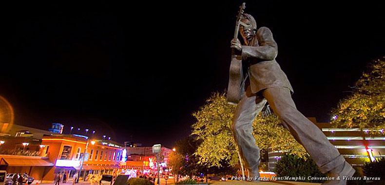 Elvis still reins supreme over Memphis' famed Beale Street