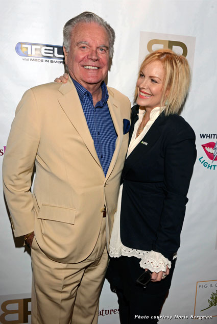 Robert Wagner brought his daughter Katie Wagner to the Emmy Style Lounge