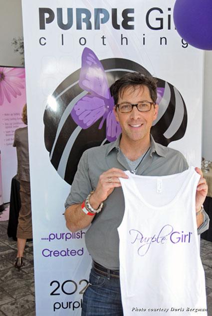 Emmy Nominee Dan Bucatinsky got cute with Purple Girl Clothing