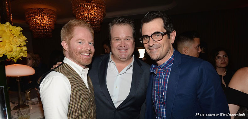 """Modern Family"" stars Jesse Tyler Ferguson, Eric Stonestreet, and Ty Burrell make their yearly pilgrimage to the Fourth Annual Audi Emmy Week Bash"