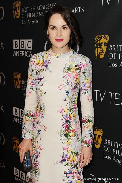 """Downton Abbey"" nominee Michelle Dockery looking gorgeous at the 2013 BAFTA LA TV Tea"
