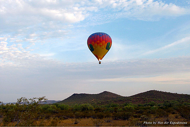 Hot air balloon ride over the Sonoran Desert