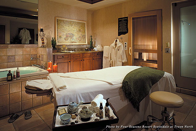 Treatment room at the Four Seasons Resort Scottsdale Spa