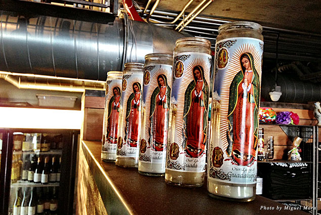 Virgin Marys at Barrio Queen