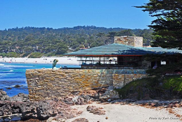 Frank Lloyd Write designed this house in Carmel