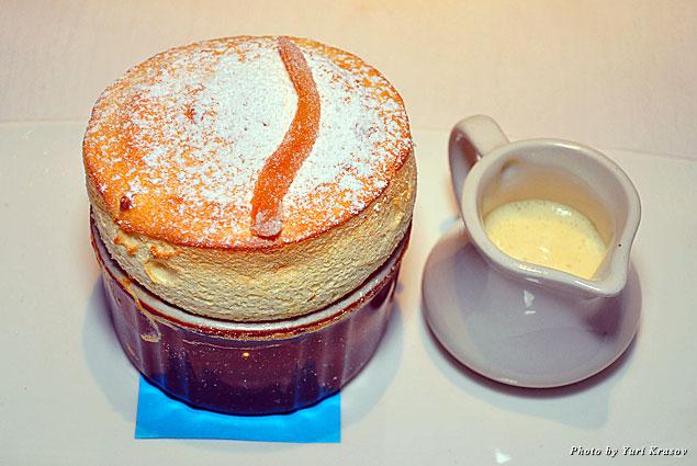 Grand Marnier soufflé at Fandango
