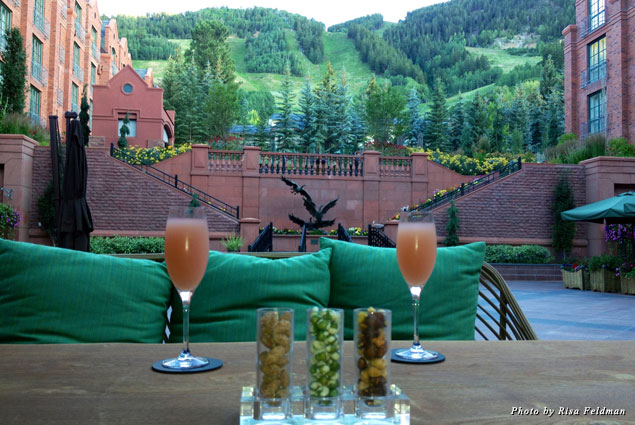 Bellinis at Aspen St. Regis