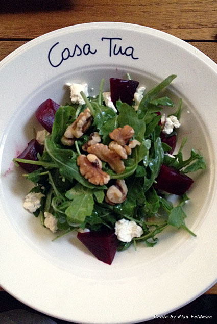 Casa Tua salad with walnuts and goat cheese