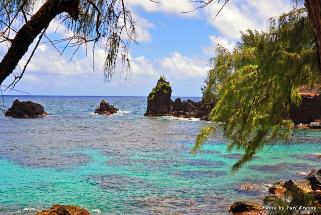 A beach by the Travaasa Hana resort
