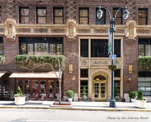 """The Library Hotel is located on the mesmerizing """"Library Walk"""" on 41st Street in New York City"""