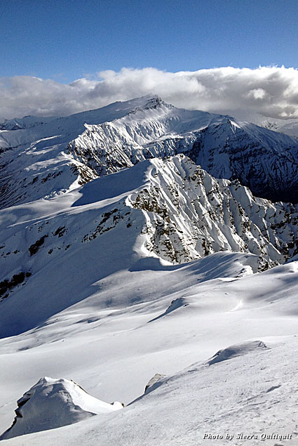 The New Zealand mountains are breathtaking, especially when covered in fresh powder