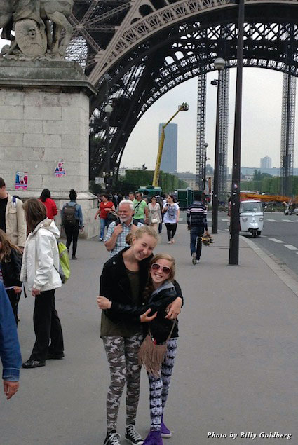 Sophie and Molly spending sister time together in Paris