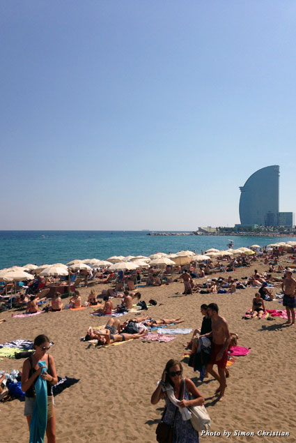Another great beach day in Barcelona