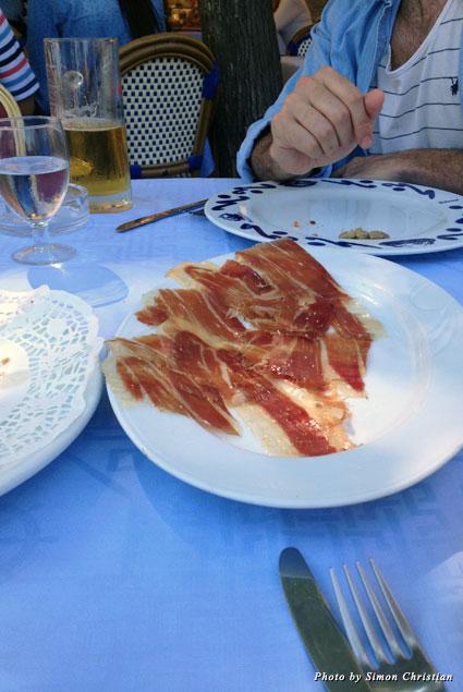 Sliced jamon