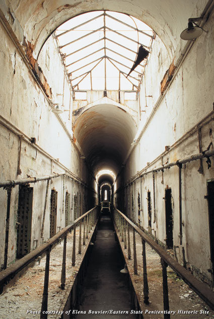 Cellblock 5 at Philadelphia's Eastern State Penitentiary