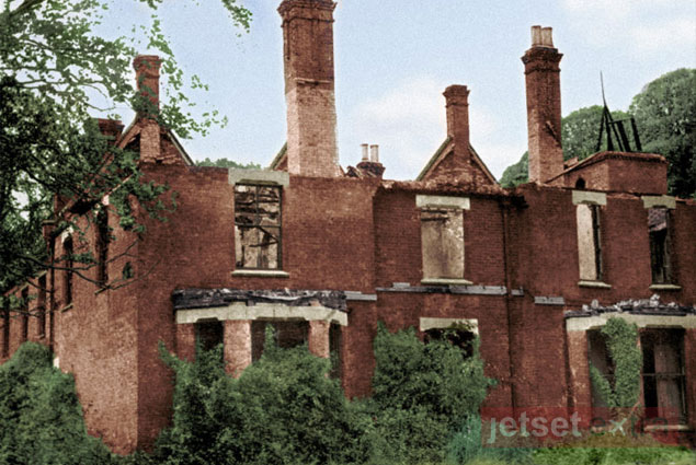 The crumbling exterior of the Borley Rectory