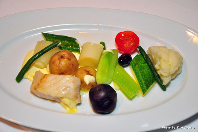 Pike with vegetables at Panache