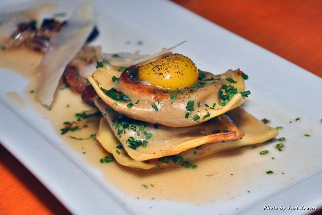 Sweet potato ravioli at Le Cercle