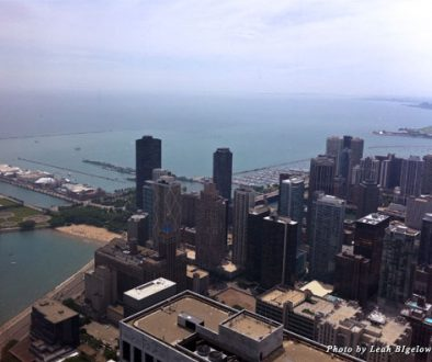 A view of Chicago from the Hancock Tower