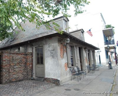 Lafitte's Blacksmith Shop on Bourbon Street in New Orleans, where pirate Jean Lafitte still comes a-haunting