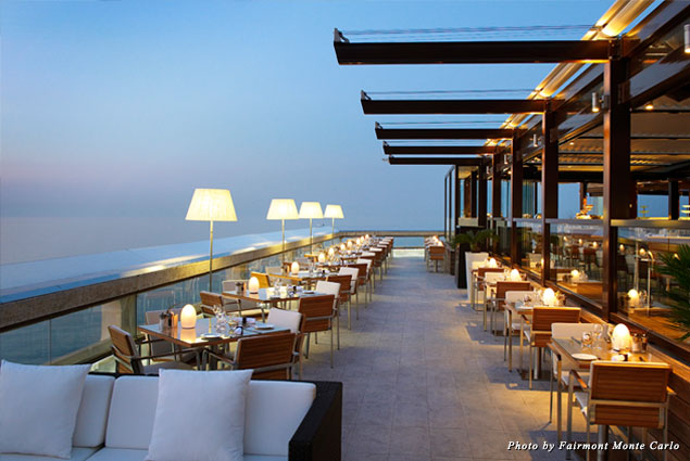 Horizon Restaurant's Terrace at Fairmont Monte Carlo